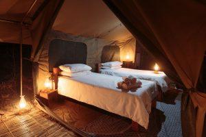 Nkonzi Camp Bedroom setup