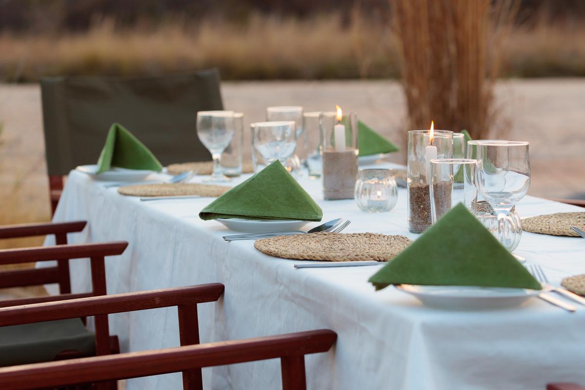 Nkonzi camp dinner