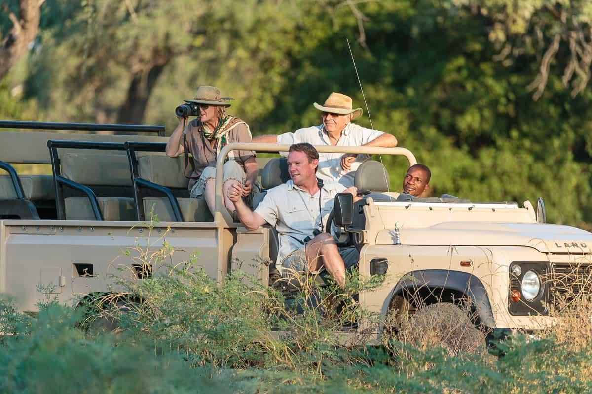 Game drive, Gavin Opie Safaris